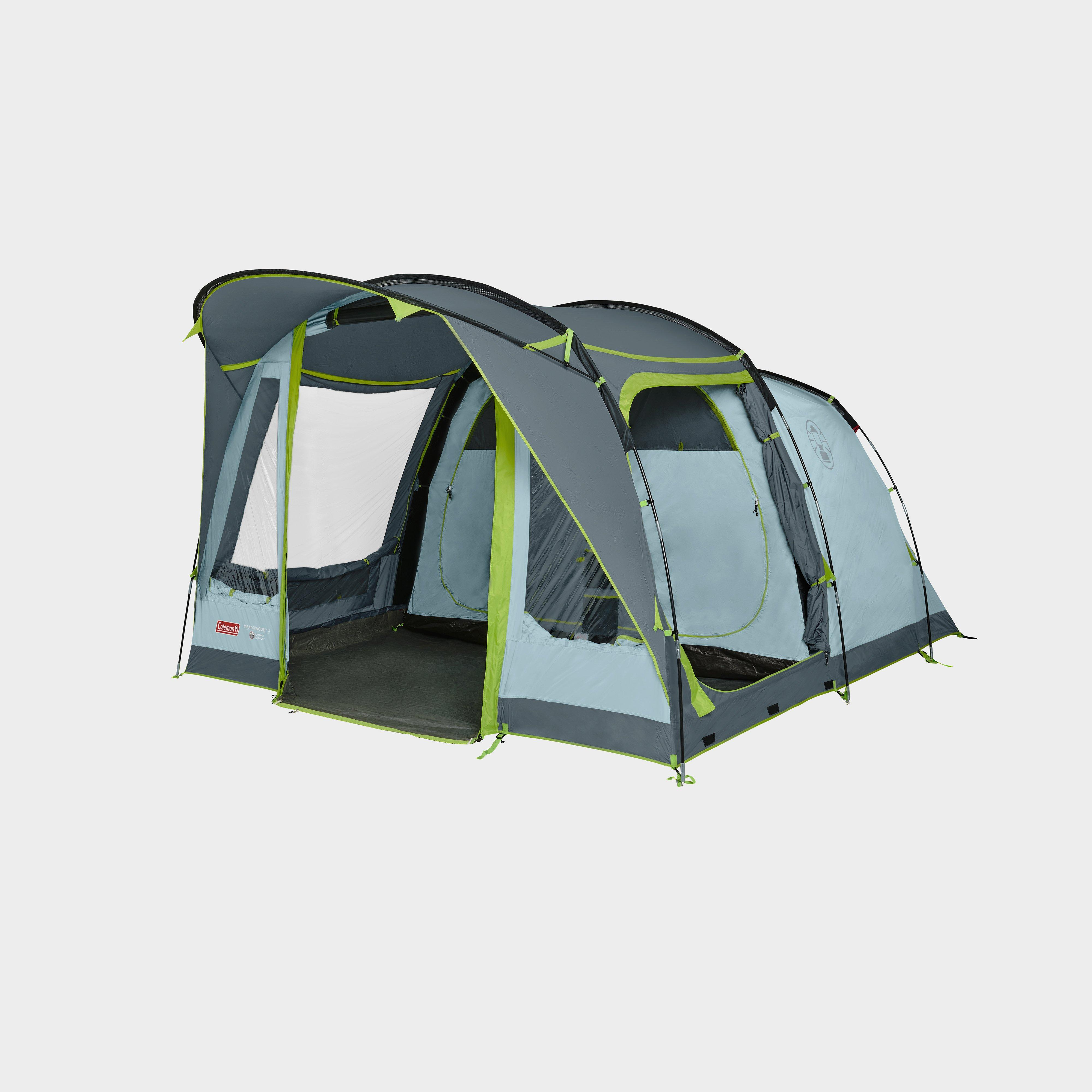 Coleman Meadowood 4 Person Tent With Blackout Bedrooms - Blue/Blu, Blue/BLU