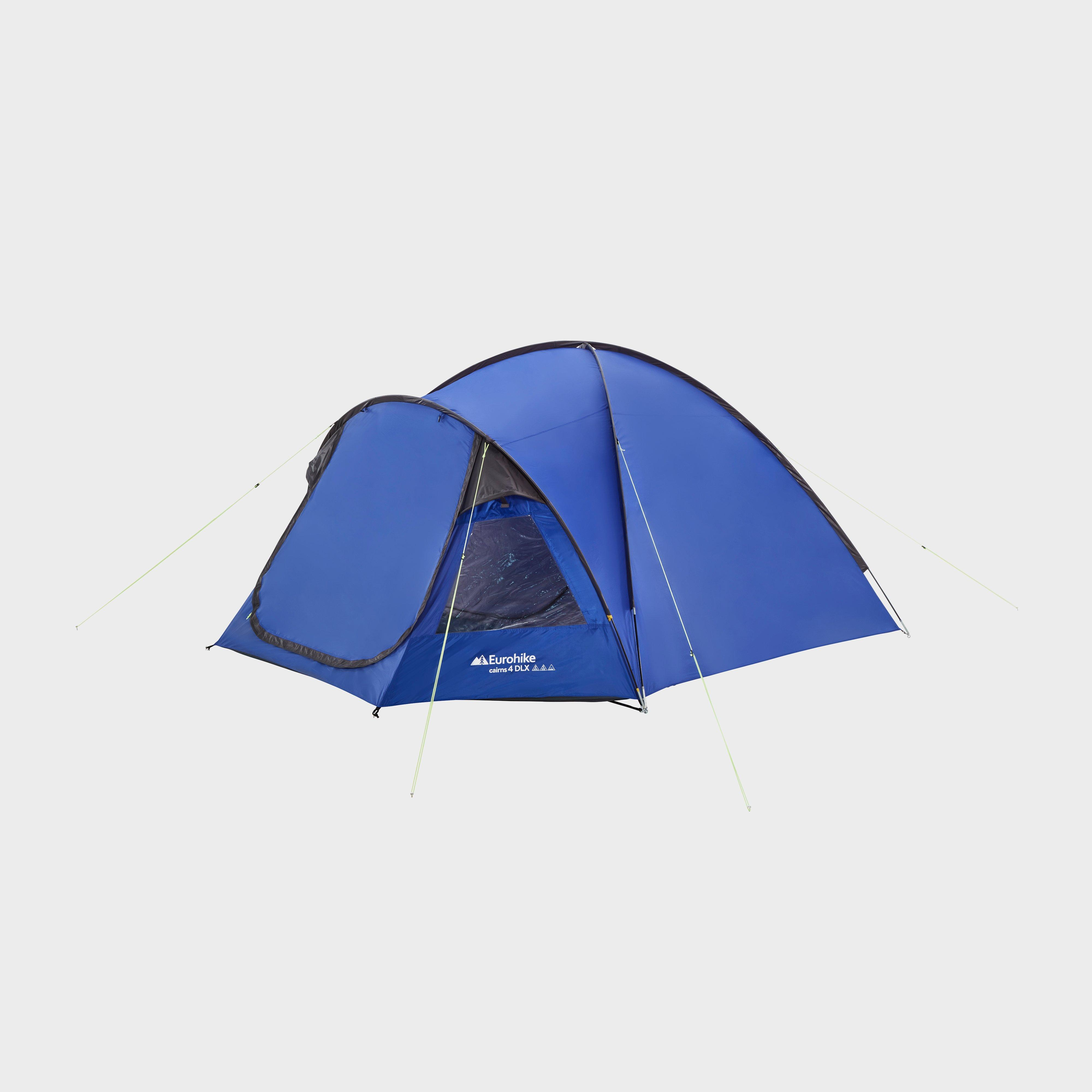Eurohike Cairns 4 Deluxe Tent - Blue/Mbl, Blue/MBL