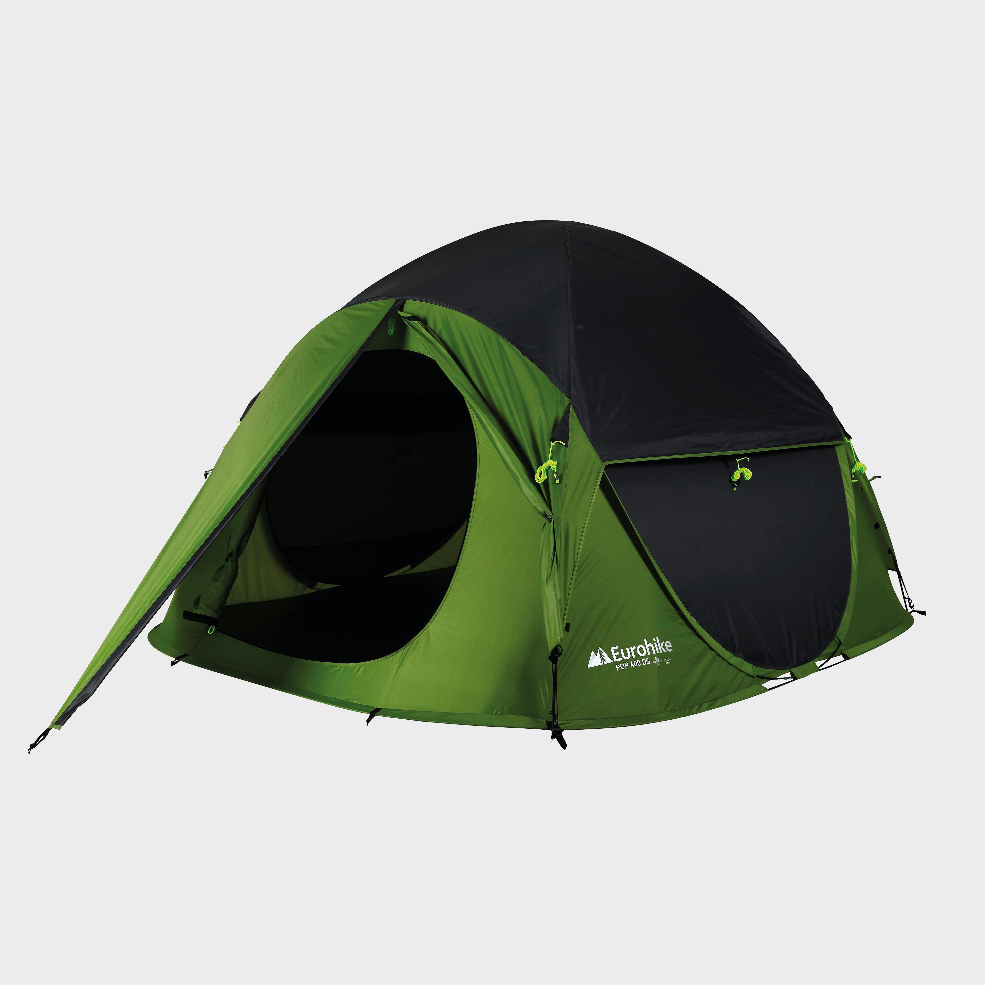 Eurohike Pop 400 Ds Tent - Green/Green, Green/Green