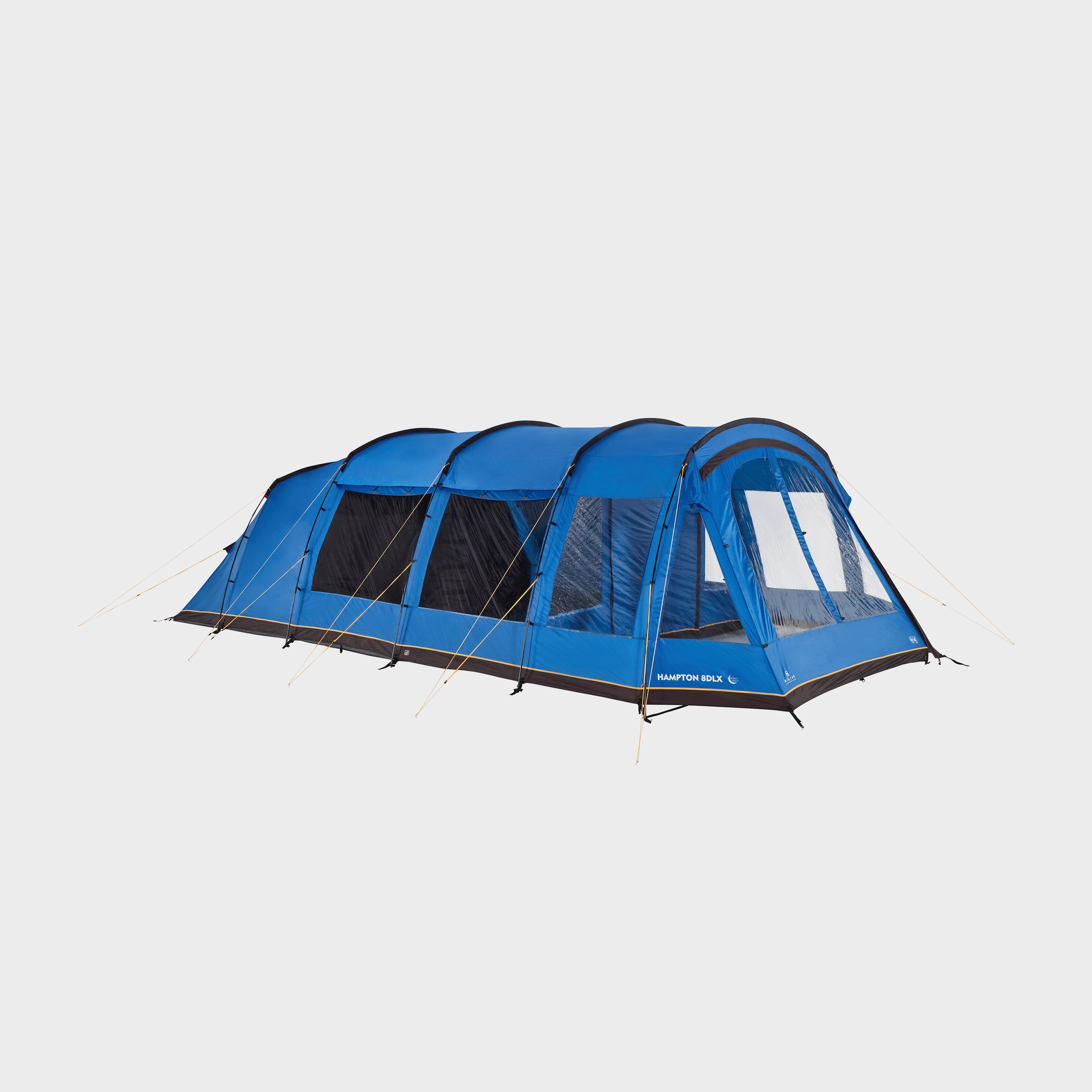 HI-GEAR Hampton 8 DLX Nightfall Tent, Blue/Blue
