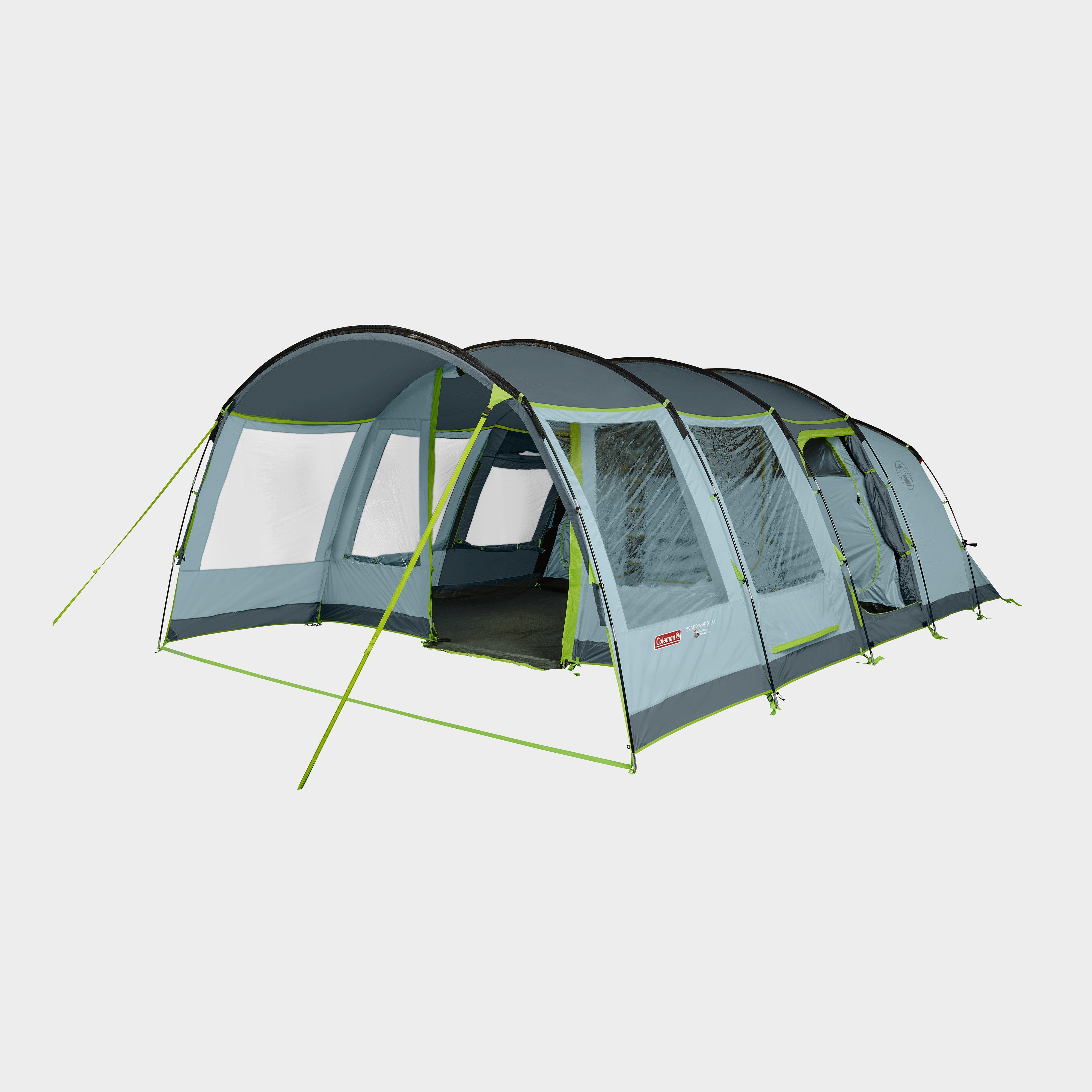 Coleman Meadowood 6 Person Large Tent With Blackout Bedrooms - Blue/Blue, Blue